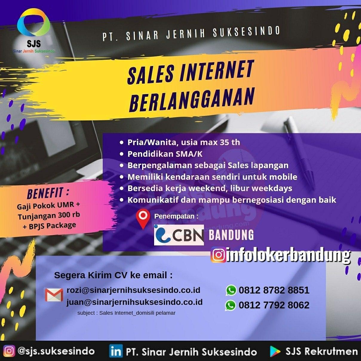 Lowongan Kerja PT. Sinar Jernih Suksesindo Bandung Januari 2020
