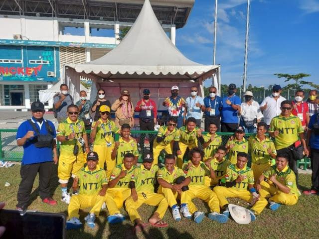 Juara di Kriket, Nusa Tenggara Timur Raih Medali Perak Pertama di PON XX.lelemuku.com.jpg