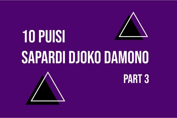 Puisi, Sapardi Djoko Damono, Kumpulan Puisi