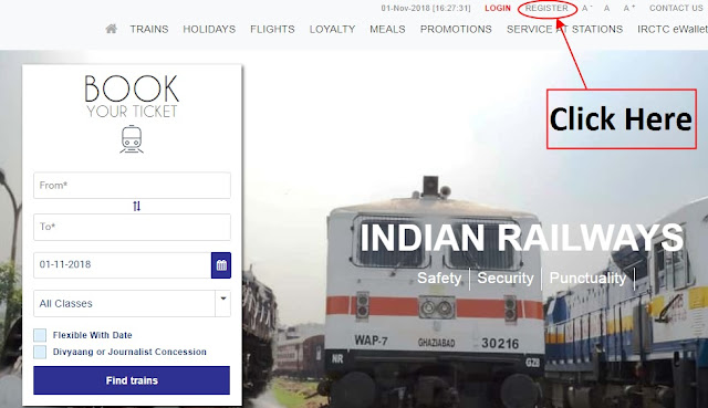 IRCTC Next Generation Login ID Registration || IRCTC New Website Full Details November 2018