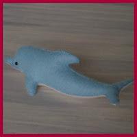 Delfín en fieltro