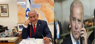 Finally Joe Biden  Call Benjamin Netanyahu