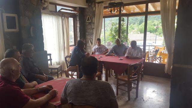 Επίσκεψη του Γιάννη Ανδριανού σε Γυμνό, Πλατάνι, Αλέα, Σκοτεινή και Φρουσιούνα
