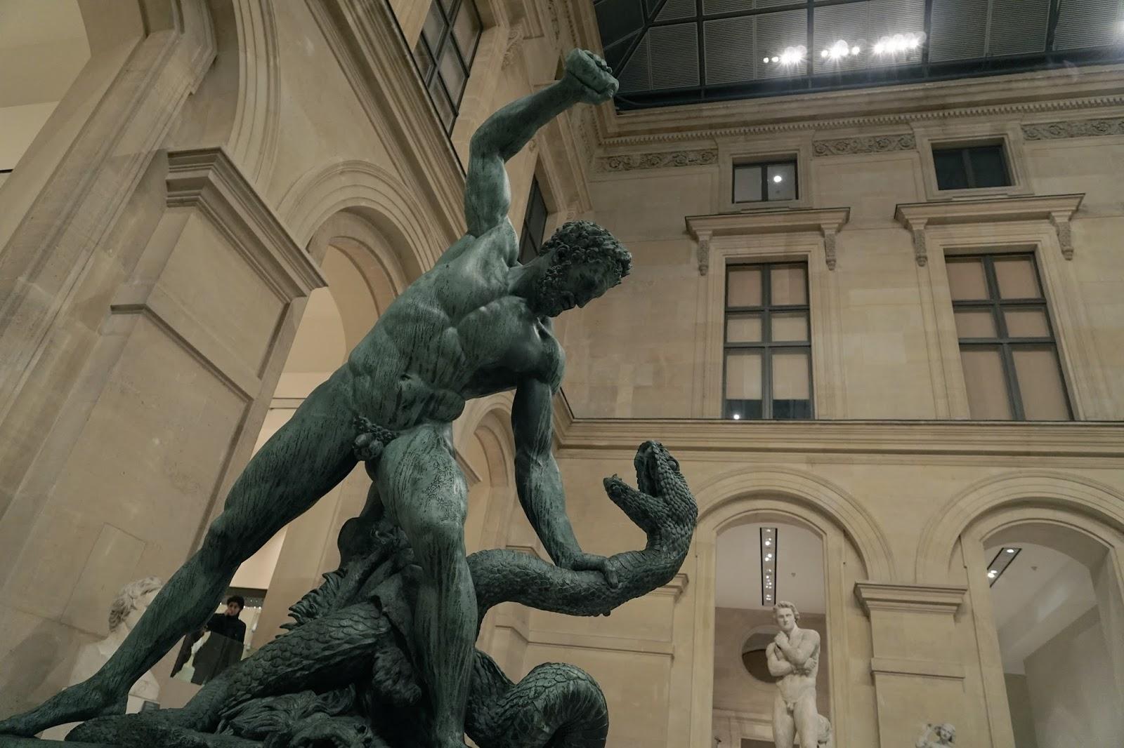 蛇と戦うヘラクレス(Hercule combattant Achéloüs métamorphosé en serpent)