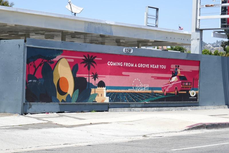 grove near you California Avocados street poster