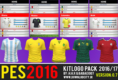 PES 2016 Kit Logo Pack 2016-17 HD v07 By Downlodcity.ir