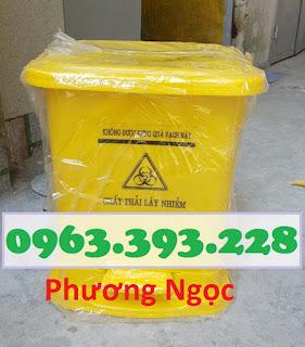 Thùng đựng rác thải y tế đạp chân 25 Lít, thùng rác y tế đạp chân TR%25C4%2590C25L1