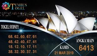 Prediksi Angka Togel Sidney Kamis 21 Maret 2019