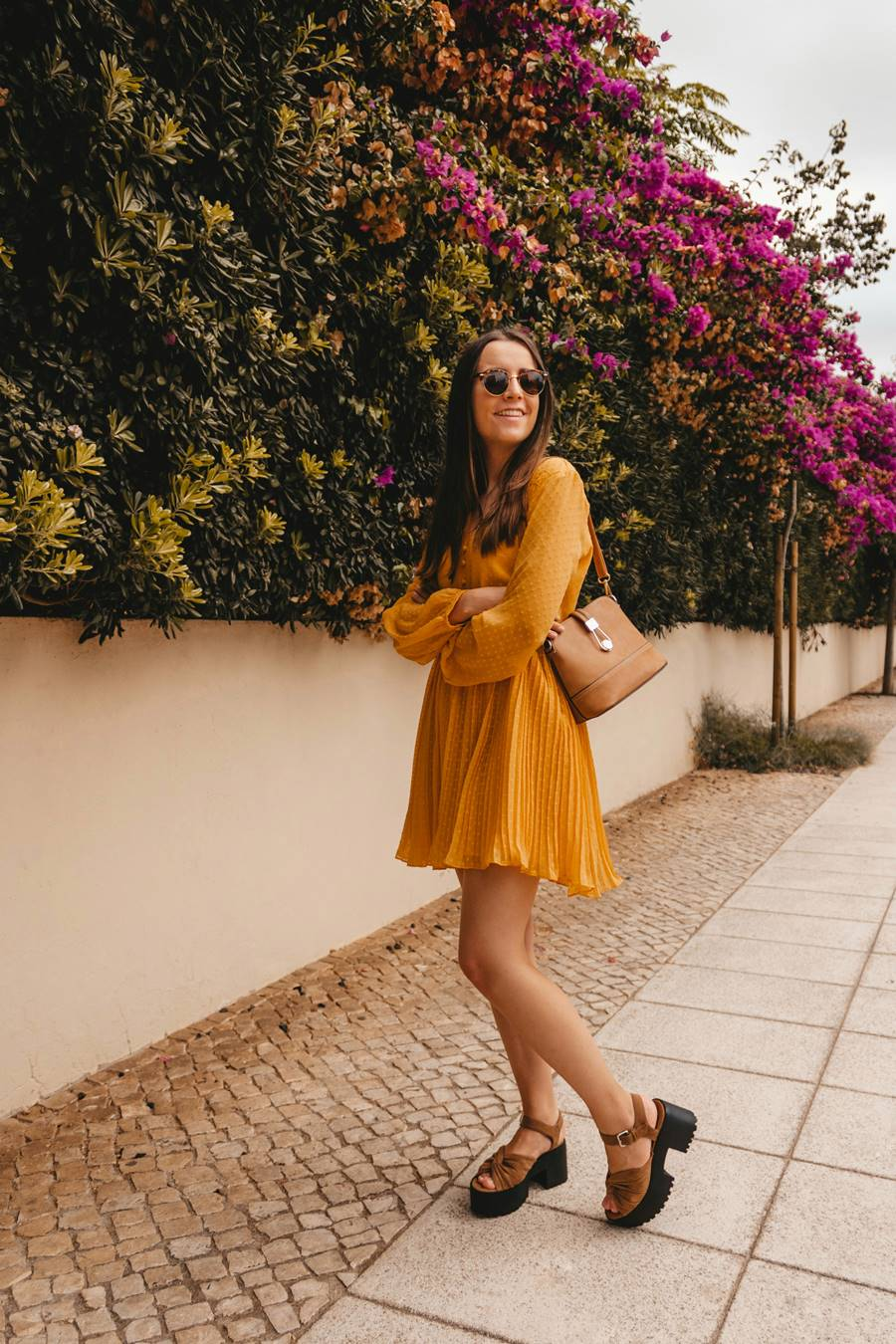 outfit with yellow dress
