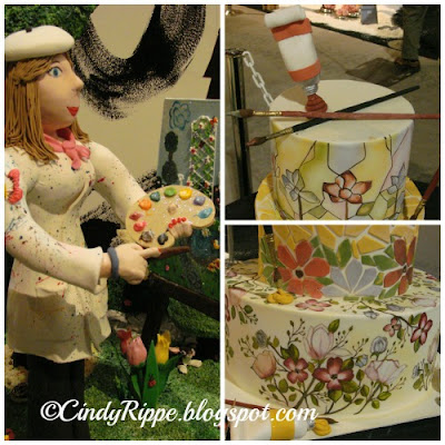 Painted Cakes, Art themed cakes, Flowers on cakes, Florals-Family-Faith, Cindy Rippe