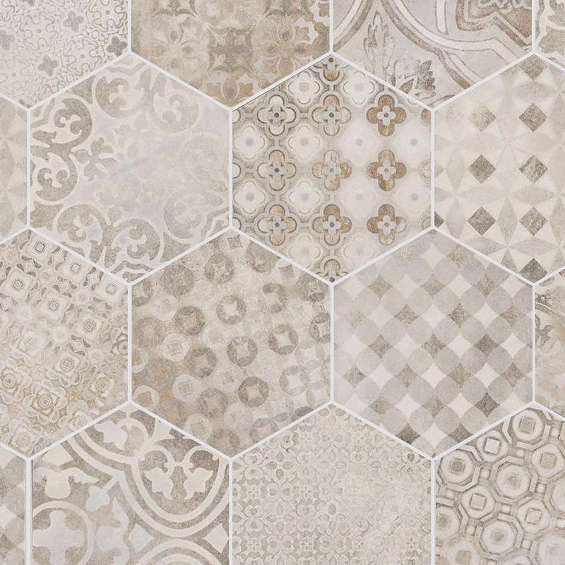 Arredamento e dintorni pavimenti in cementine o marmette - Piastrelle esagonali cucina ...
