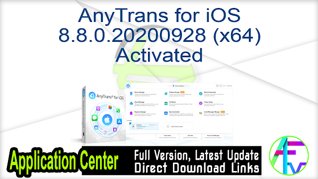 AnyTrans for iOS 8.8.0.20200928 (x64) Activated