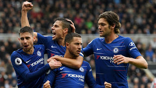 hazard scores 100th goals and one hundred and first Chelsea goals as Maurizio Sarri's men moved back into the Premier League prime four