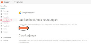 cara mudah mendaftar google adsense langsung dari blogger atau blogspot
