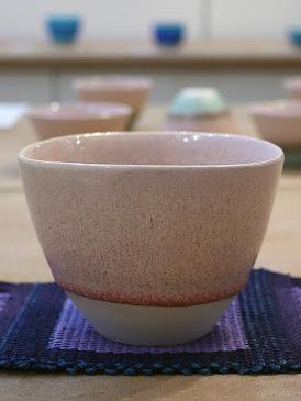 結晶釉 三角カップ(税込価格 ¥4,950) サイズ:口径9.0cm×高さ6.5cm