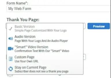 เปลี่ยน custom thank you page ของคุณ