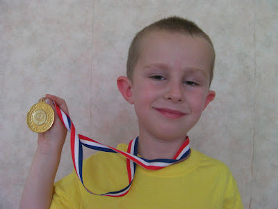gymnastics medal for floor routine in school competition