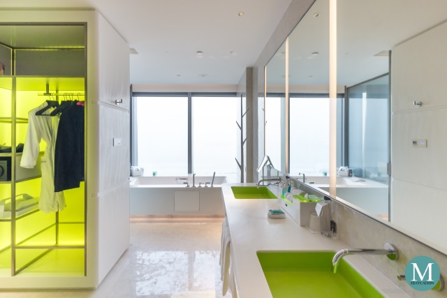 bathroom and closet of the Fantastic Suite at W Hotel Suzhou China