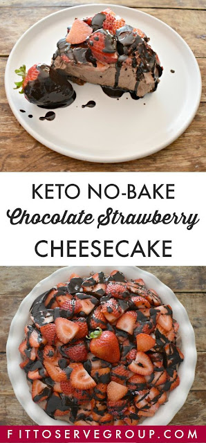 Luscious Keto No-Bake Chocolate Strawberry Cheesecake