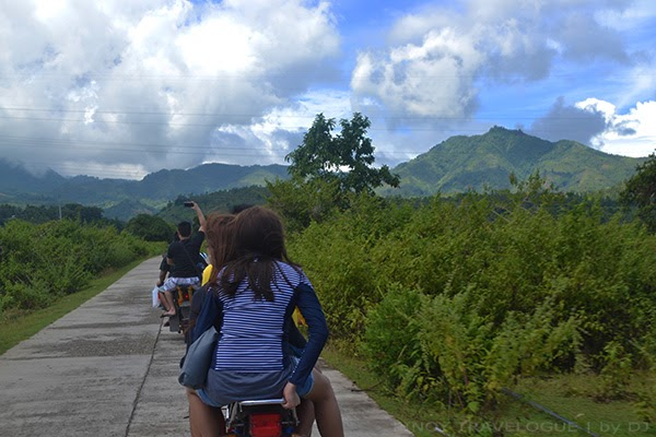 Scenic habal-habal ride en route twin lakes