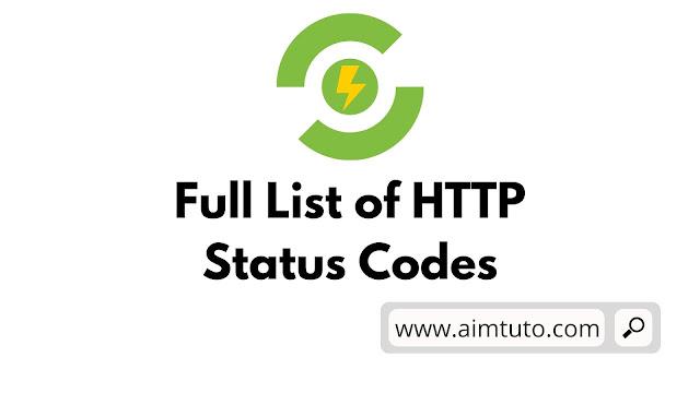 full list of http response status codes