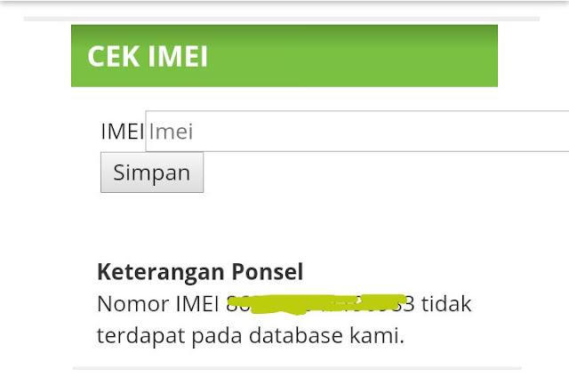 Cek IMEI Online