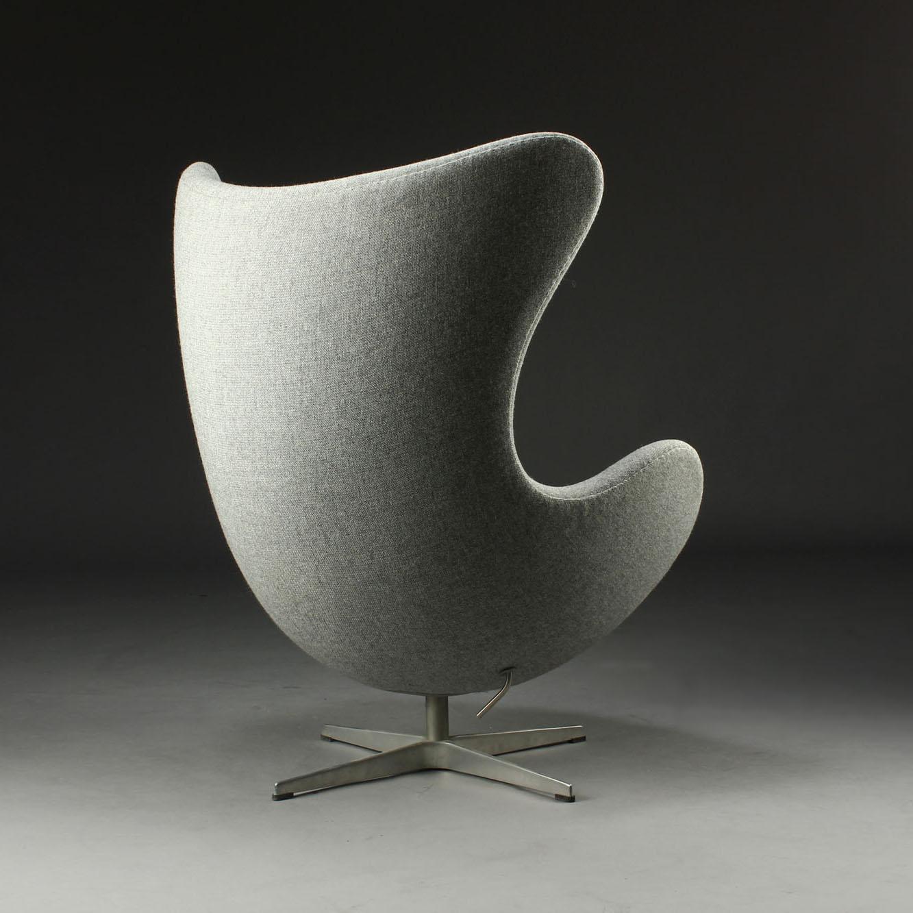 fritz hansen arne jacobsen egg chair in kvadrat tonica. Black Bedroom Furniture Sets. Home Design Ideas