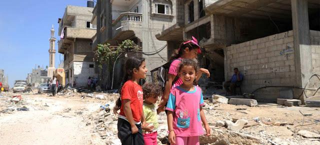 Niños en Gaza. OOPS/Shareef Sarhan
