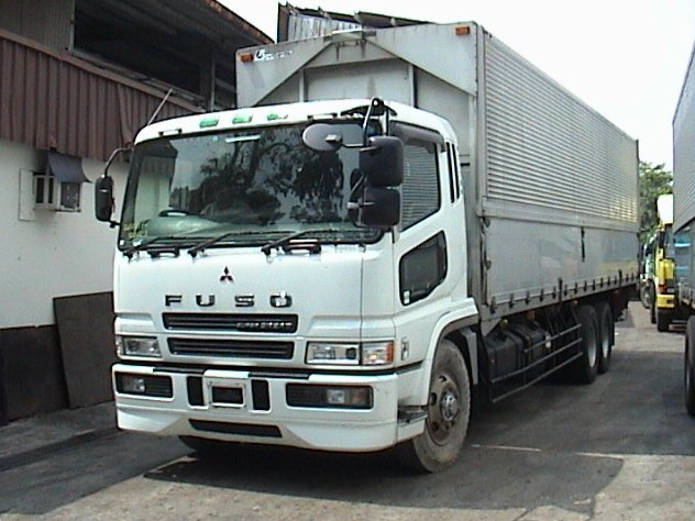 modifikasi model truk mitsubishi fuso kontainer