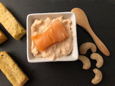 Tartinade de saumon fumé et noix de cajou