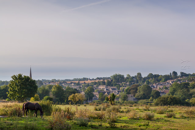 The town of Burford surrounded by the Cotswold landscape by Martyn Ferry Photography