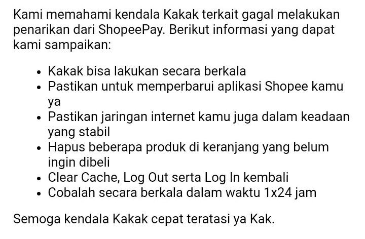 Cara mеngаtаѕі Penarikan Gagal Di Shopeepay