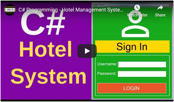 C# Hotel Management System Source Code