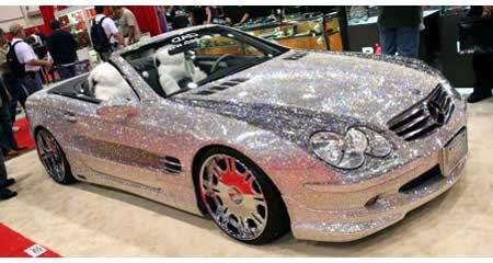Prince of dubai diamond car