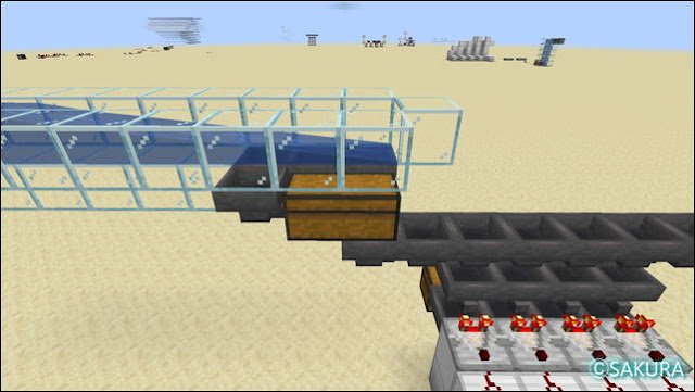 マインクラフト 水流からアイテム回収