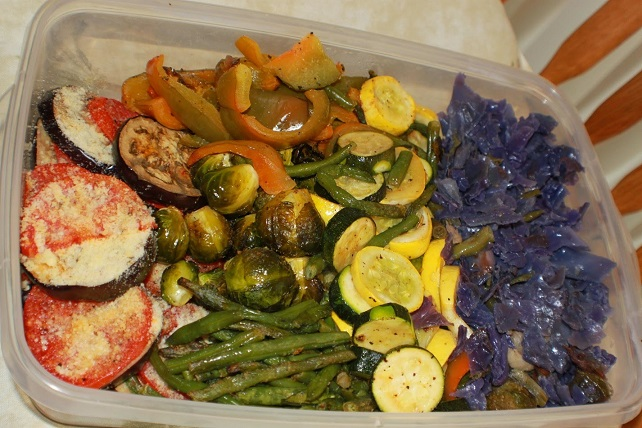 this is a round up of roasted vegetables to serve as a side dish
