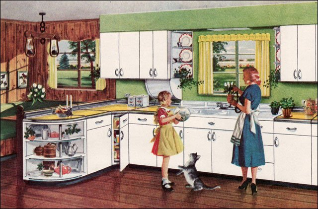 20 Wonderful American Kitchen Designs From The 1950s Vintage Everyday