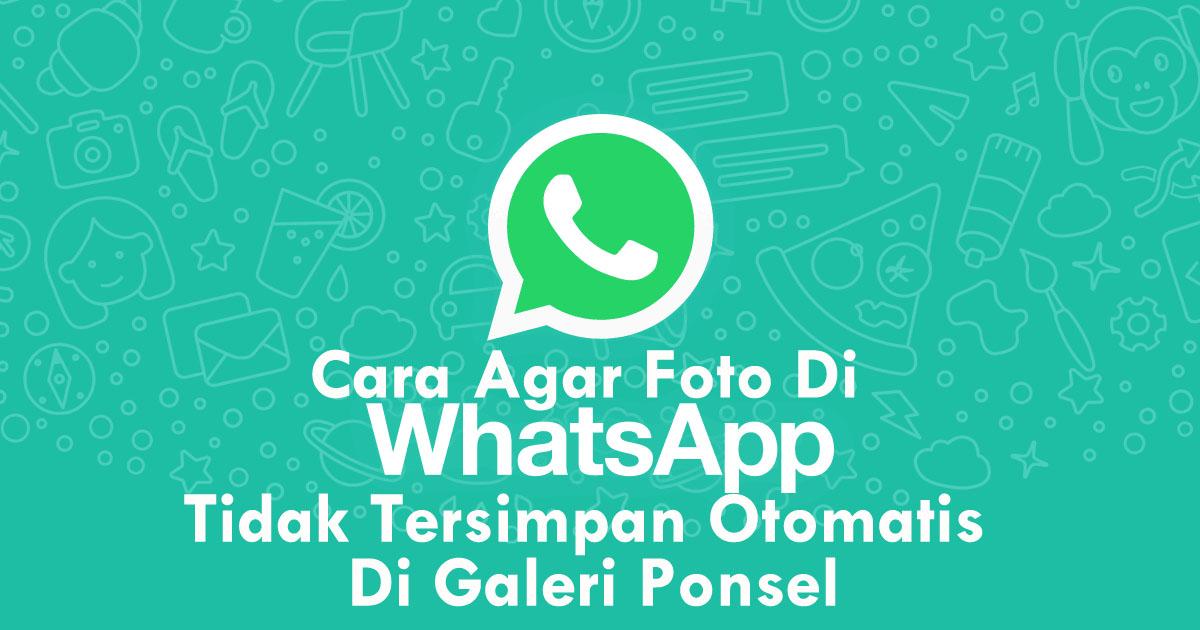 Cara Agar Foto Di WhatsApp Tidak Tersimpan Otomatis Di Galeri Ponsel