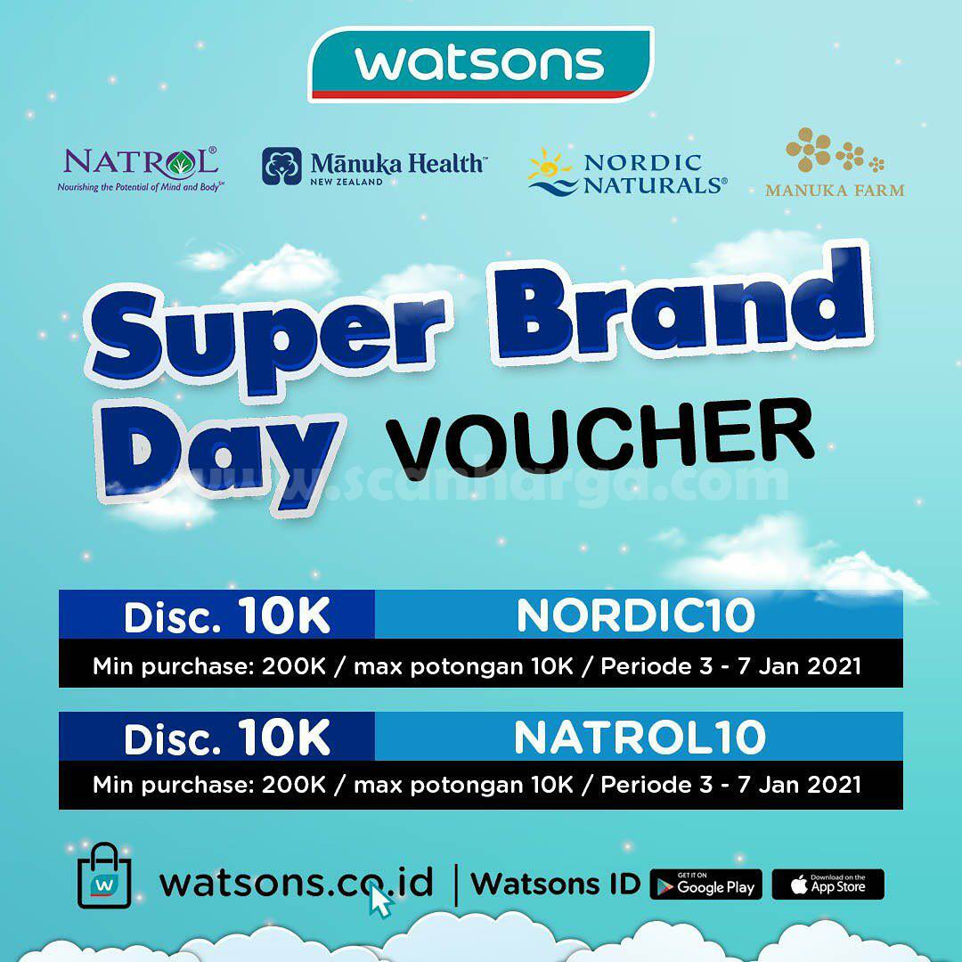 WATSONS Promo SUPER BRAND DAY – Discount up to 20% Off