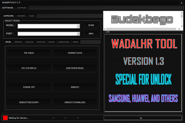 Wadalhr Tool V1.3 Special For Unlock Samsung, Huawei, and Others