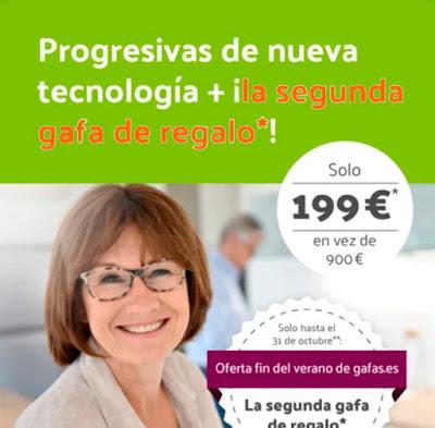 2X1 en gafas progresivas de alta calidad