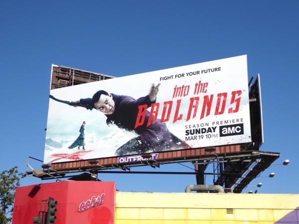Into the Badlands season 2 billboard