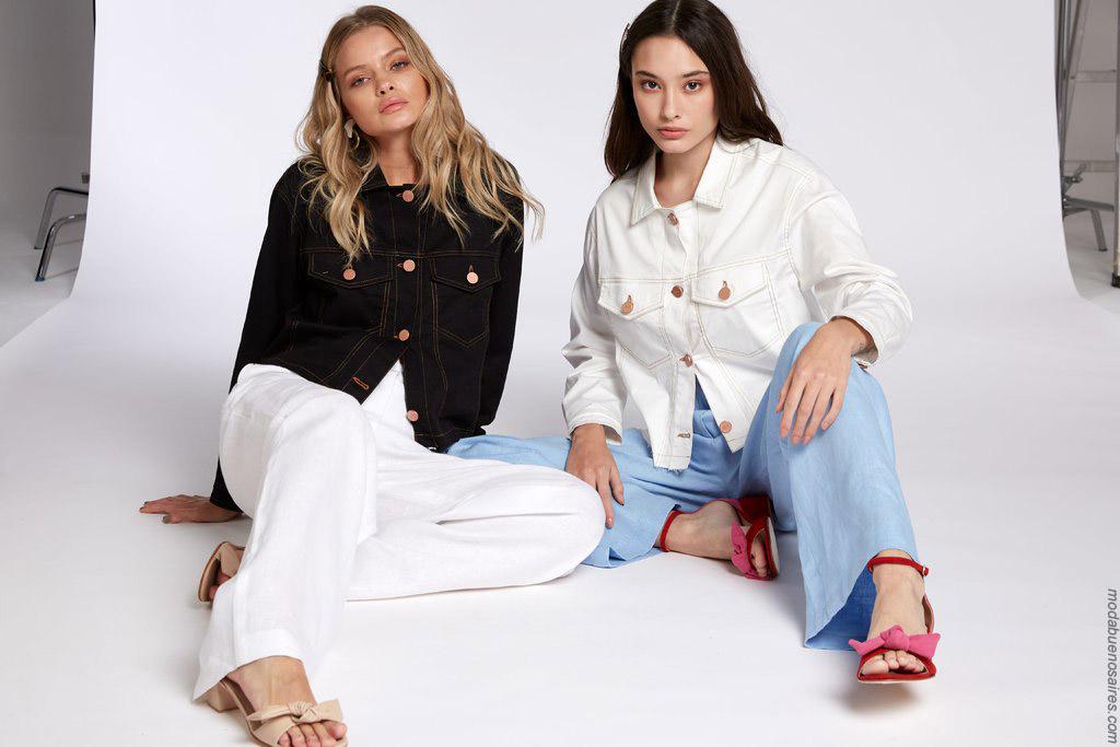 Camperas y pantalones de jeans primavera verano 2020.