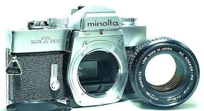 Minolta SRT-202 (Chrome) Body #353, Minolta MC Rokkor-Pg 50mm 1:1.4 #184