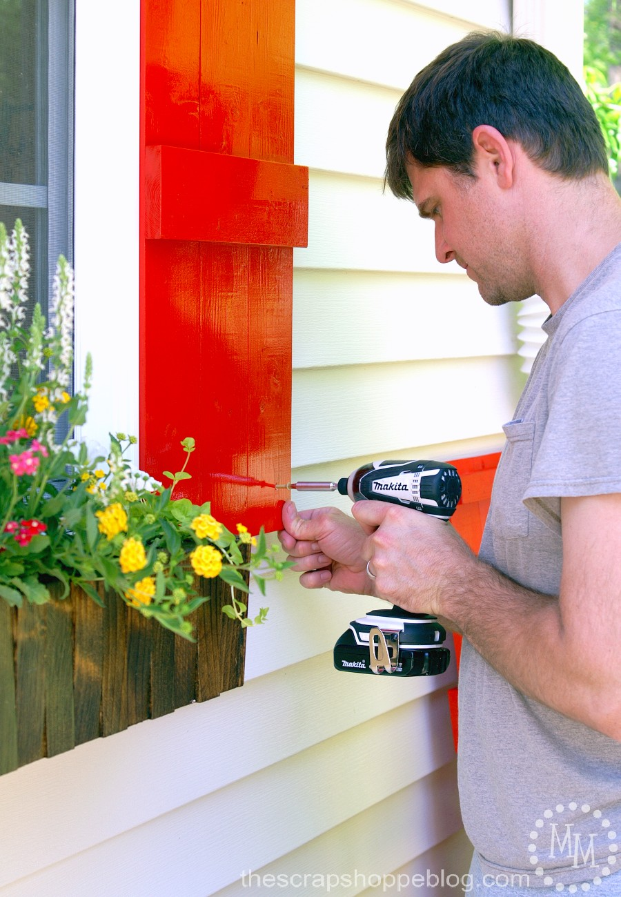Attach DIY Shutters to House