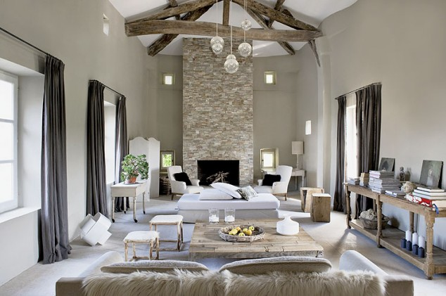 interior una 39 fortaleza 39 de piedra con vistas a los vi edos decoraci n. Black Bedroom Furniture Sets. Home Design Ideas