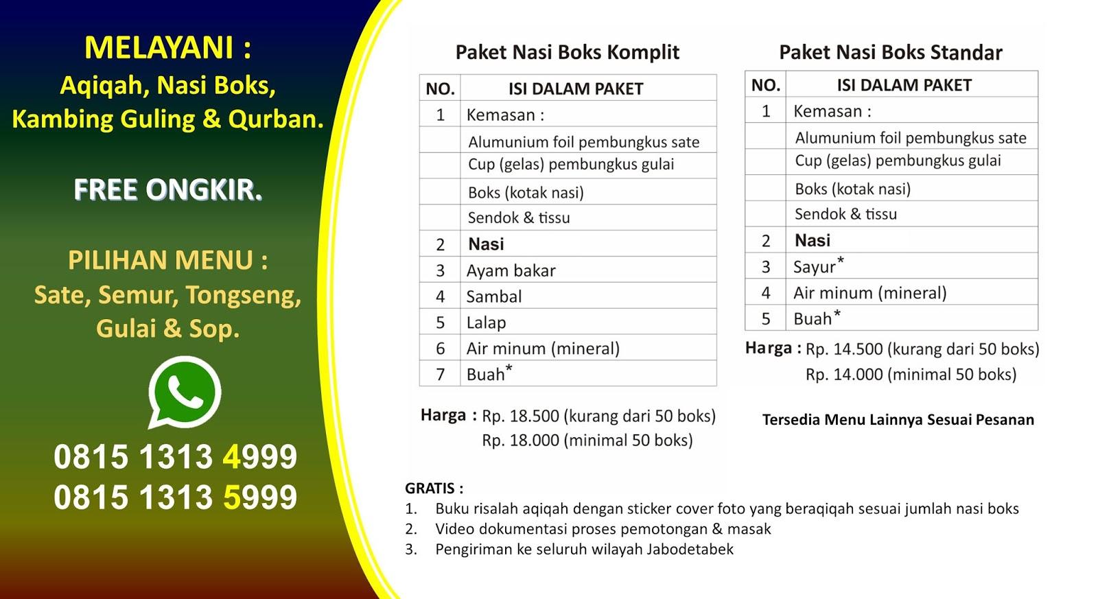 Layanan Akikah Dan Catering Plus Daerah Bogor Jawa Barat