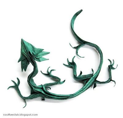 Dragon de papel Papiroflexia u origami.