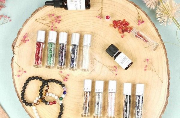 Rollers de pierres semi-précieuses et bracelets diffuseurs My Roller Stone