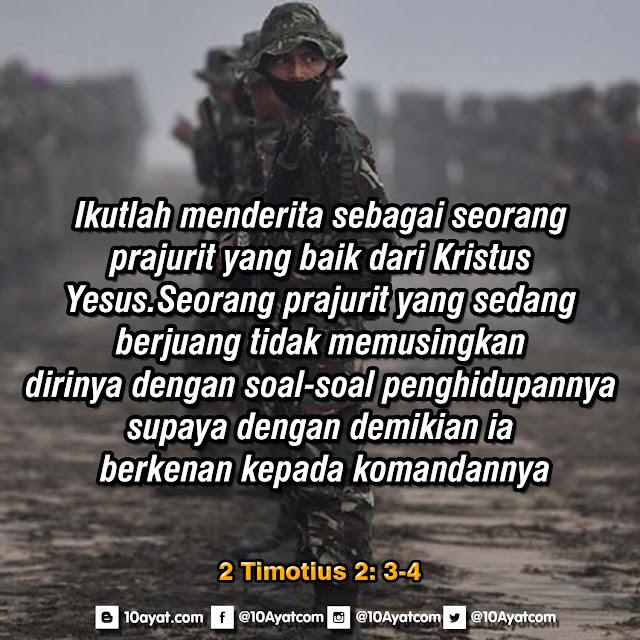2 Timotius 2: 3-4